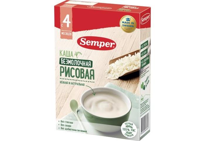 Каши Semper Безмолочная рисовая каша с 4 мес. 180 г каши semper молочная рисовая каша с бананом с 6 мес 200 г