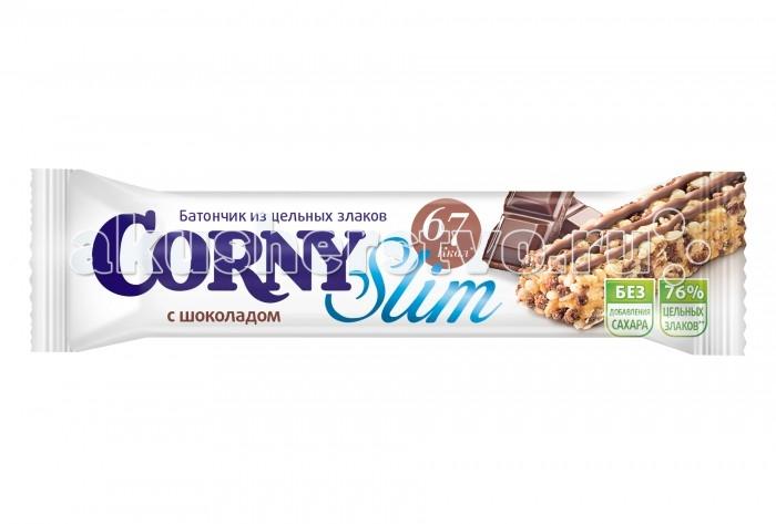 Печенье Corny Злаковый батончик Slim с шоколадом 20 г батончик corny milk злаковый с молоком и какао 30 г