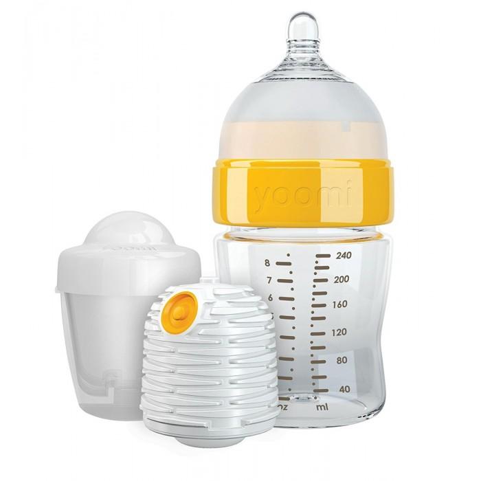 Аксессуары для кормления , Бутылочки Yoomi 240 мл (медленный поток) с подогревателем арт: 204096 -  Бутылочки
