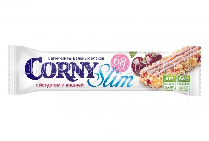 Печенье Corny Злаковый батончик Slim с йогуртом и вишней 20 г злаковый батончик с кокосом в шоколаде