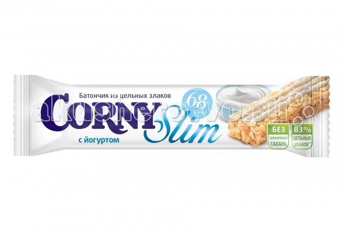 Печенье Corny Злаковый батончик Slim с йогуртом 20 г danone йогурт питьевой 2 5% 850 г