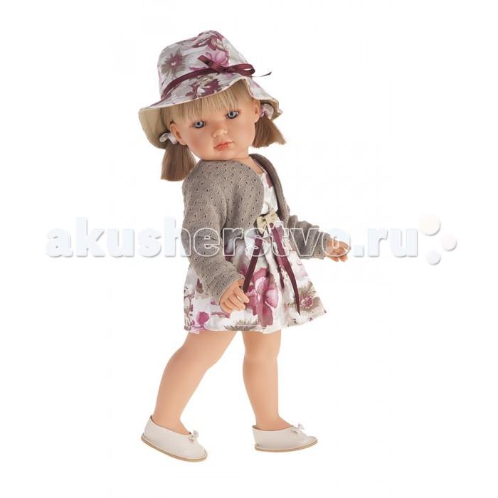 Munecas Antonio Juan  Кукла Белла в шляпке блондинка 45 см 2808P