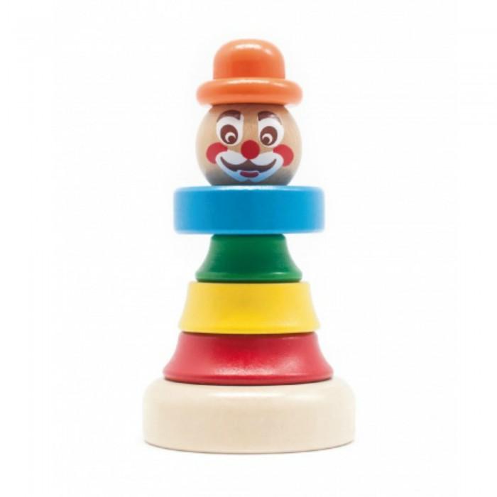 Деревянные игрушки Бомик Клоун пирамидка 1