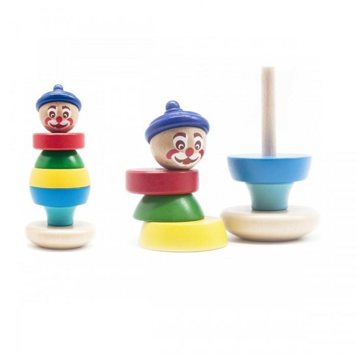 Деревянные игрушки Бомик Клоун пирамидка 2