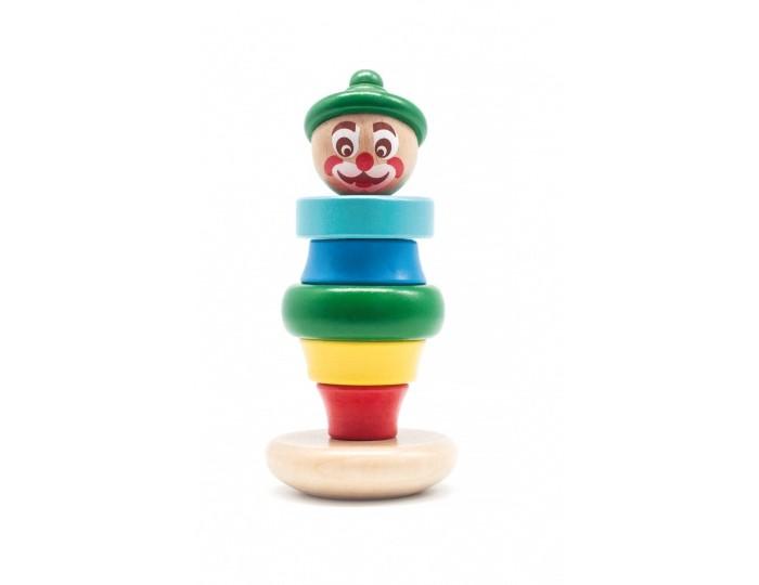Фото - Деревянные игрушки Бомик Клоун пирамидка 3 кольца гимнастические indigo деревянные на стропах диаметр 18 см