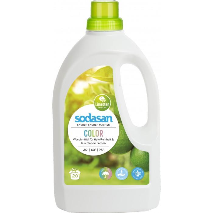 Бытовая химия Sodasan Жидкое средство для стирки цветных вещей 1.5 л sodasan жидкое мыло пряный апельсин 250 мл