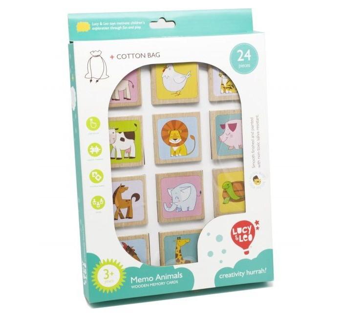 Деревянные игрушки Lucy & Leo Мемо кмв животные отдам в хорошие руки