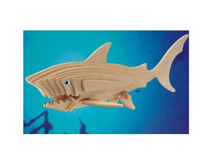 Конструкторы Мир деревянных игрушек (МДИ) Акула 28 элементов конструкторы мир деревянных игрушек мди белая акула