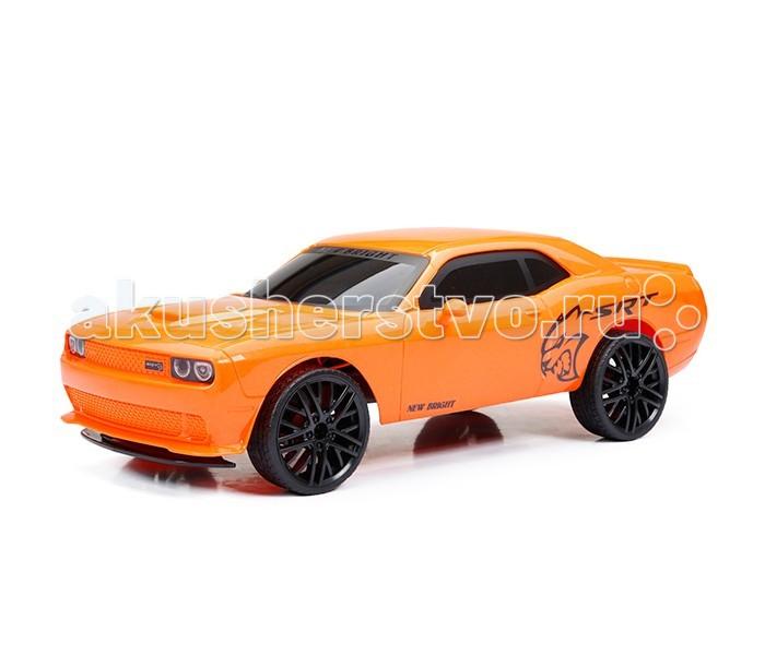 New Bright Машина р/у Challenger HellcatМашина р/у Challenger HellcatРадиоуправляемый гоночный автомобиль серии New Bright - замечательная игрушка, отличный подарок для каждого мальчика к любому празднику! Она выполнена в ярко-оранжевом цвете, выглядит очень ярко и эффектно. Используемые при изготовлении игрушки материалы высококачественные, экологически чистые и полностью безопасные для здоровья ребенка.  Challenger Hellcat - это мощнейший автомобиль с солидными техническими показателями. Каждый мальчик, несомненно, мечтает о такой машине!  Модель выполнена в масштабе 1:12 и в точности копирует марку Challenger Hellcat.  Машинка передвигается как вперед-назад, так и влево-вправо, она способна развить скорость до 10 км/час.  Дальность действия дистанционного пульта управления достигает 30 метров.  Пульт работает на 2 батарейках типа АА (не входят в комплект), а машина - на аккумуляторе 6.4V- его можно зарядить от компьютера при помощи USB кабеля, который также входит в комплект.<br>
