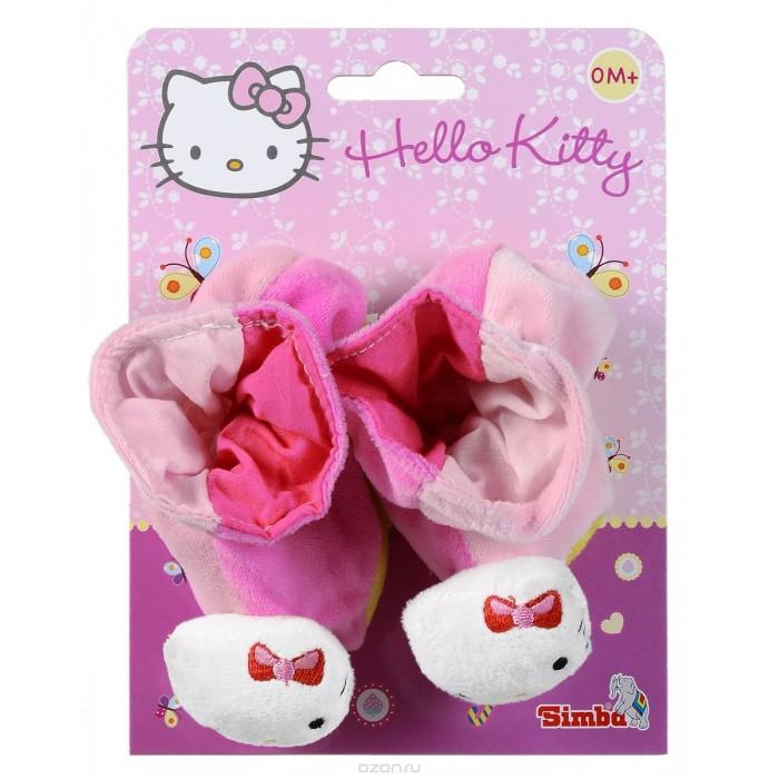 Обувь и пинетки Simba Тапочки-погремушки Hello Kitty 13 см hello kitty игрушка погремушка тапочки цвет розовый голубой
