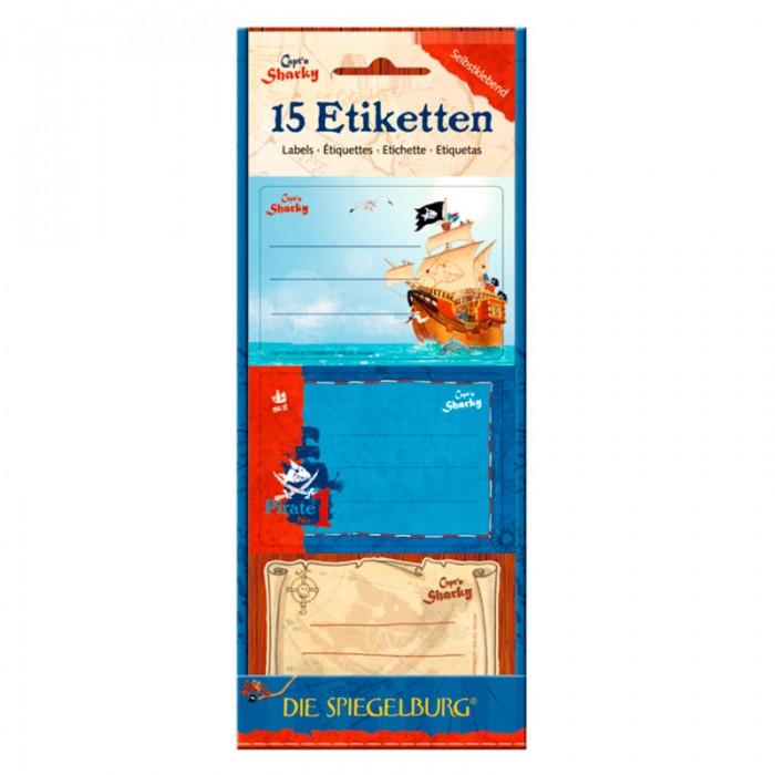 Детские наклейки Spiegelburg Наклейки для тетради Captn Sharky 11354 наборы для творчества spiegelburg набор для детского творчества captn sharky 21364