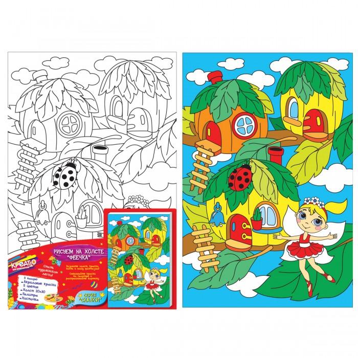 Картины по номерам Креатто Набор для росписи по холсту - Феечка набор для росписи по холсту креатто лебеди от 3 лет 30895