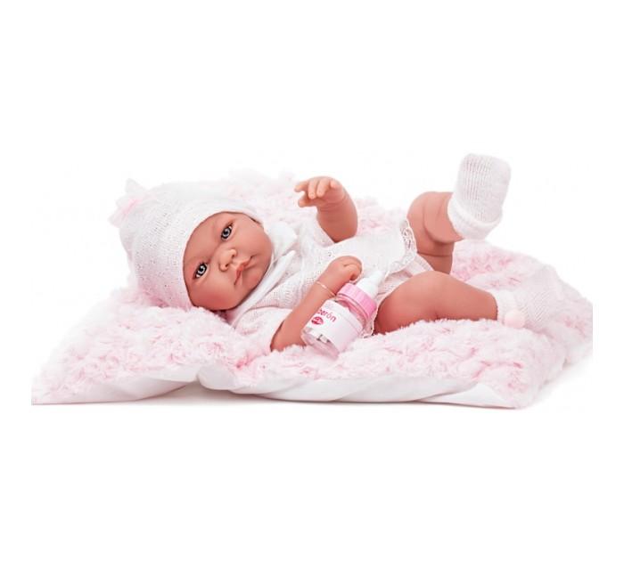 Munecas Antonio Juan  Кукла-младенец Ника в розовом 42 см 5054P