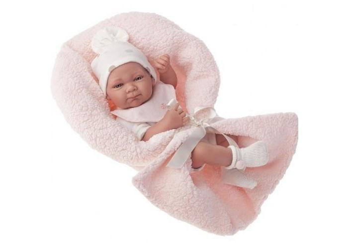 Munecas Antonio Juan  Кукла-младенец Оливия в розовом 42 см 5062P