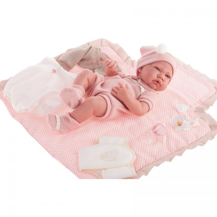 Munecas Antonio Juan  Кукла-младенец Кармелита с пеленальным комплектом 42 см 5095P