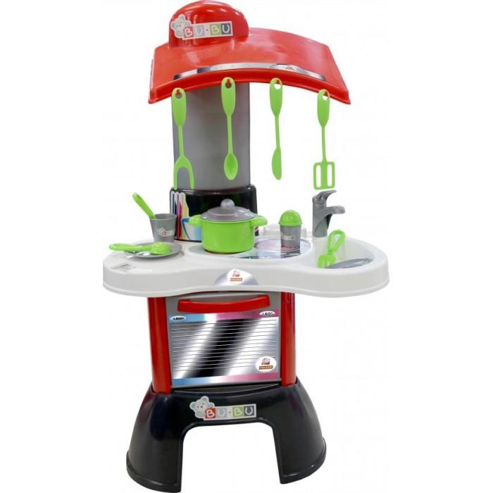 Полесье Набор BU-BU №1Набор BU-BU №1Полесье Набор BU-BU №1 – это яркая кухня, в наборе с которой идут все необходимые приспособления для готовки. Она имеет зону для приготовления пищи, зону для мытья посуды, а также духовой шкаф.  Набор дополнен игрушечной посудой: Кастрюля – 1 шт  Тарелки – 2 шт  Вилка – 1 шт  Ложка – 1 шт  Нож – 1 шт  Стакан – 1 шт  Солонка – 1 шт  Комплект лопаток – 4 шт  Возраст: от 2 лет Размер кухни: 48 х 31 х 81 см<br>