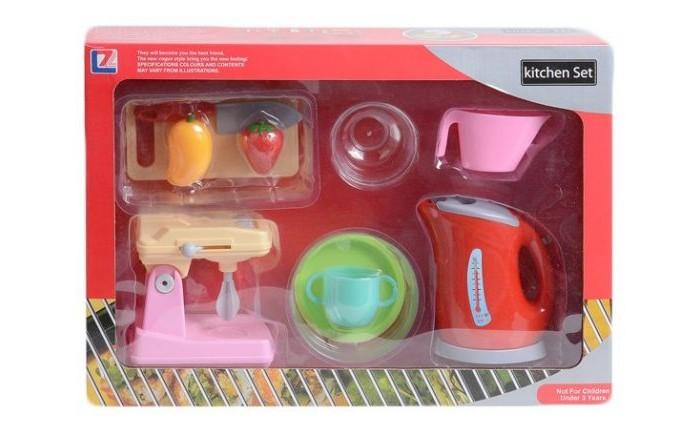 Ролевые игры Shantou Gepai Набор кухонной техники: чайник, миксер, посуда и продукты. shantou gepai игрушка пластм касса электронная продукты сканер shantou gepai
