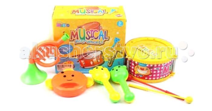 Музыкальные игрушки Shantou Gepai Набор музыкальные инструменты 5 предметов музыкальные игрушки s s toys музыкальные инструменты