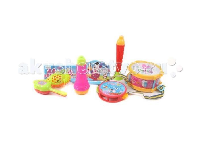 Музыкальные игрушки Shantou Gepai Набор музыкальных инструментов, 6 предметов shantou набор дельфин и морской конек 3302b gepai