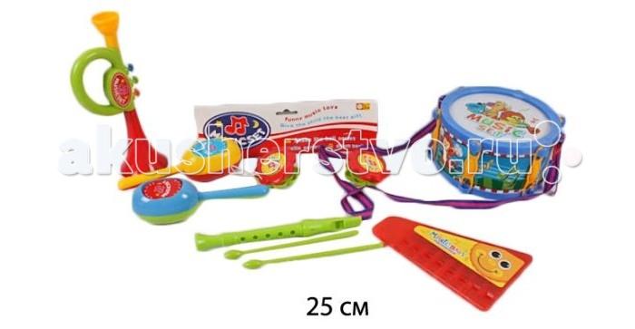 Музыкальные игрушки Shantou Gepai Набор музыкальных инструментов, 4 предмета спортивный инвентарь shantou gepai дартс детский с липучкой