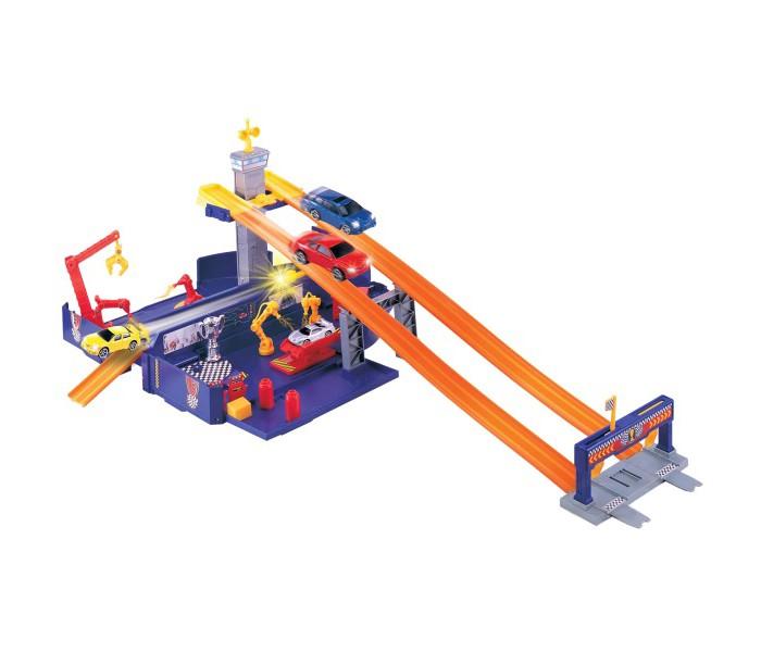Машины MotorMax Игровой набор Грузовик - трансформер motormax motormax грузовик для перевозки автомобилей с 3 машинками