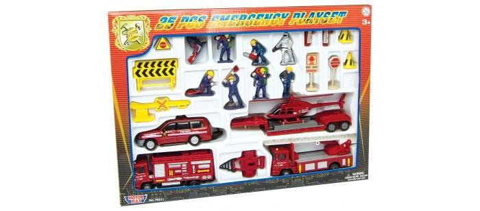 MotorMax Игровой набор СпасателиИгровой набор СпасателиИгровой набор Спасатели в красивой подарочной упаковке. В набор входят различные машины, вертолет, фигурки людей в спецодежде и знаки. Motormax Toy Factory Ltd. — это фабрика по производству литых и пластиковых копий различных видов транспортных средств, включая автомобили, самолеты и мотоциклы в масштабах от 1:64 до 1:12.  Особенности:   Размер упаковки: 35 x 22 x 6 см Вес: 1 кг<br>
