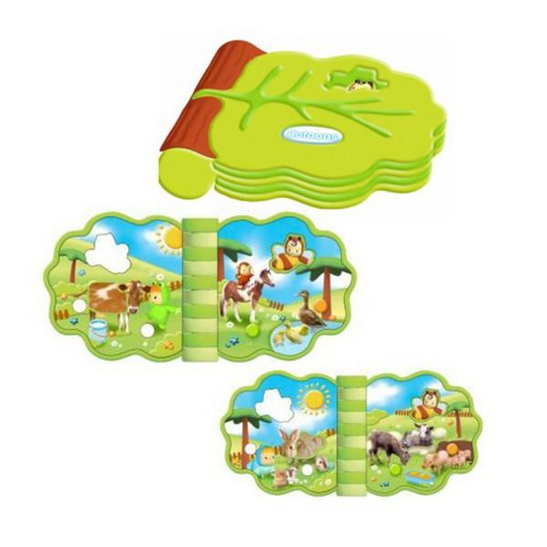 Книжки , Книжки-игрушки Smoby Cotoons Музыкальная развивающая книжечка арт: 20558 -  Книжки-игрушки