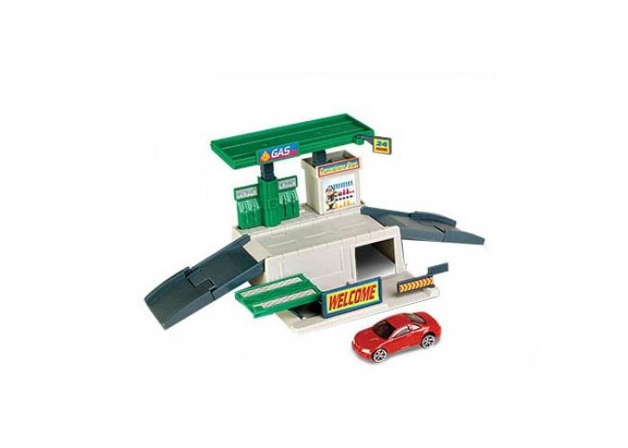 Машины MotorMax Игровой набор Заправочная станция
