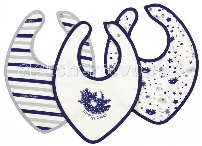 шапочки и чепчики lucky child комплект детский чепчик 3 шт лаванда Нагрудники Lucky Child Комплект детский Нагрудник 3 шт. Котики