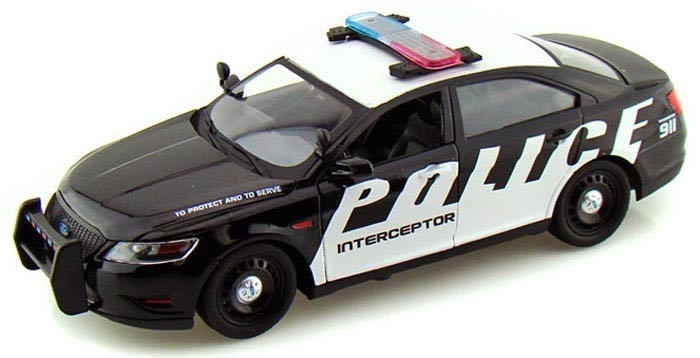 Машины MotorMax Модель автомобиля Ford Police Interceptor Concept (Масштаб: 1:24) maisto 1 18 scale ford 1939 deluxe police car models black diecast model children gifts collections toys for boys