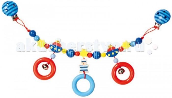 Heimess Растяжка на коляску МорячокРастяжка на коляску МорячокHeimess Растяжка на коляску Морячок   Растяжка на клипсах может крепиться не только на коляску, но и на автокресло, а также прикрепляться к любым текстильным поверхностям. У игрушки есть маленький колокольчик.  Длина 40 см<br>
