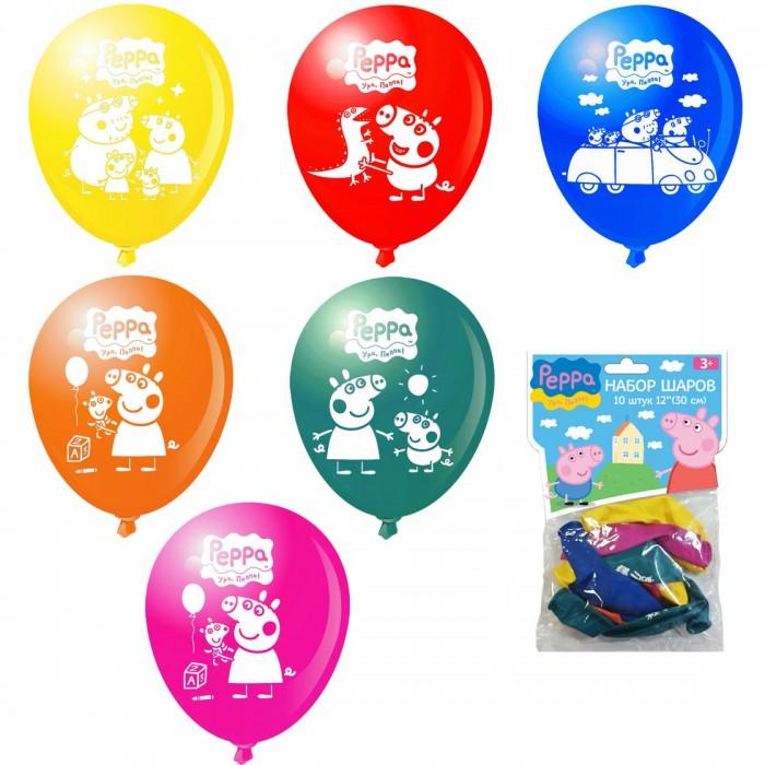 Товары для праздника Свинка Пеппа (Peppa Pig) Набор шаров 10 шт. peppa pig playing football