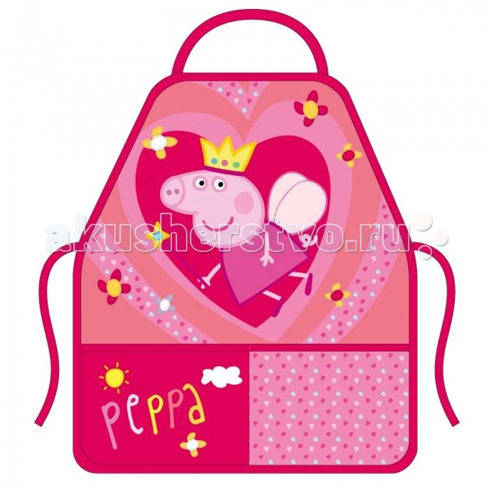 Детские фартуки Свинка Пеппа (Peppa Pig) Фартук с нарукавниками Королева peppa pig playing football