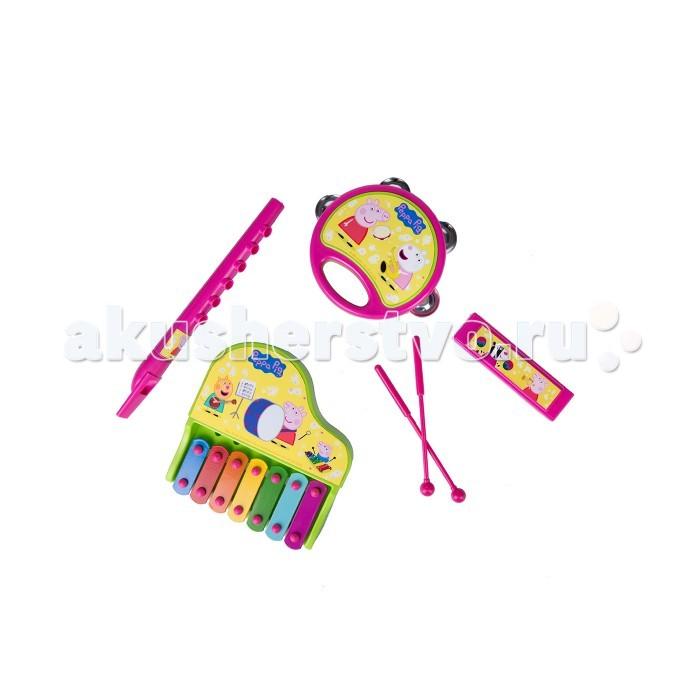 Музыкальные игрушки Свинка Пеппа (Peppa Pig) Набор инструментов на блистере музыкальные игрушки стеллар дудочка