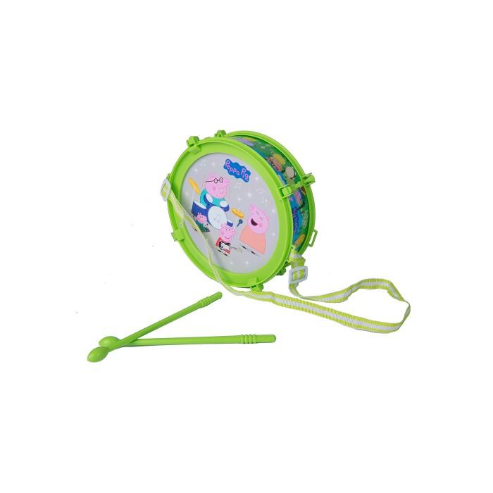Музыкальные игрушки Свинка Пеппа (Peppa Pig) Барабан Пеппы световые эффекты в коробке мягкие игрушки peppa pig мягкая игрушка пеппа модница 20 см