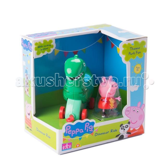 Каталка-игрушка Peppa Pig Динозавр с фигурками