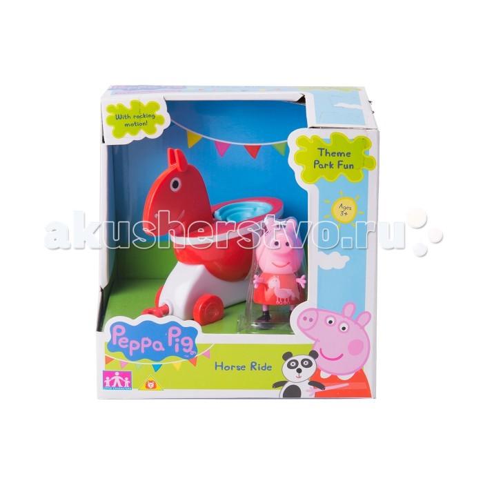 Каталки-игрушки Свинка Пеппа (Peppa Pig) Лошадка с фигуркой каталки peppa pig каталка машина семьи пеппы свинка пеппа