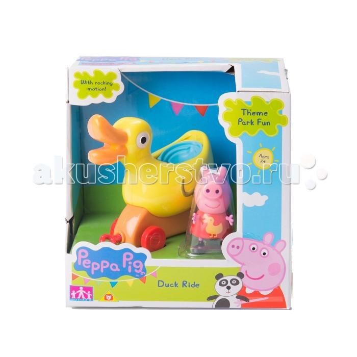 Каталки-игрушки Свинка Пеппа (Peppa Pig) Уточка с фигурками 31010 каталки peppa pig каталка машина семьи пеппы свинка пеппа