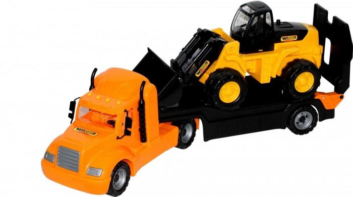 Машины Полесье Набор Майк автомобиль-трейлер и трактор-погрузчик машины полесье автомобиль лидер