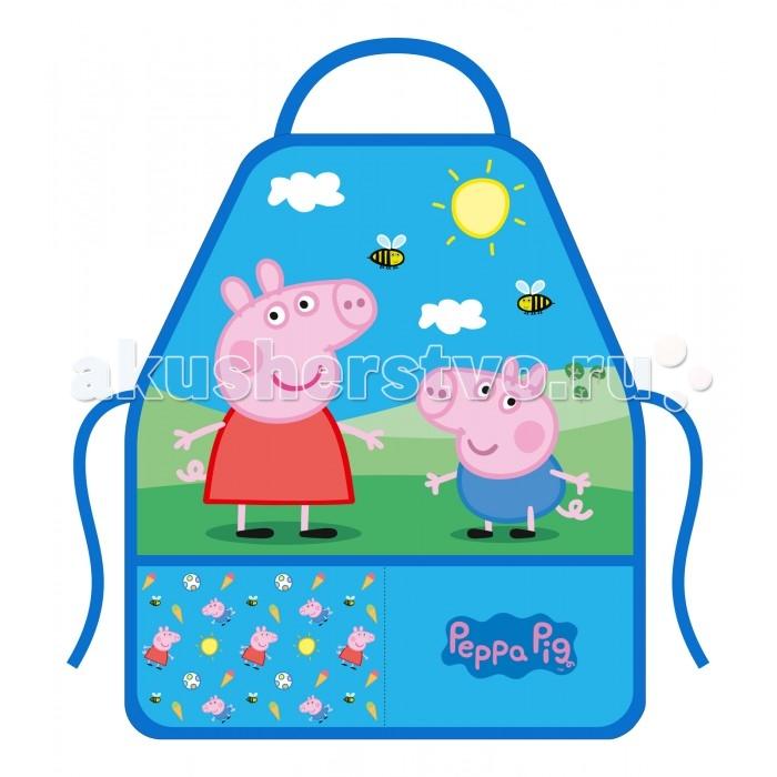 детские фартуки спейс фартук с нарукавниками 3 кармана собачка Детские фартуки Свинка Пеппа (Peppa Pig) Фартук с нарукавниками
