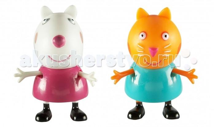 Игровые фигурки Свинка Пеппа (Peppa Pig) Игровые фигурки Сьюзи и Кенди игровые наборы свинка пеппа peppa pig игровой набор пеппа и сьюзи 5 см