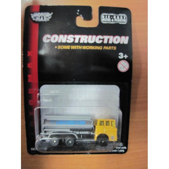 Машины MotorMax Строительная техника - Автоцистерна (Масштаб: 1:64) бытовка строительная бу цена