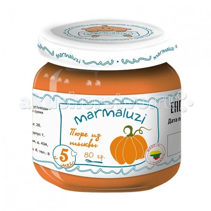 Пюре Marmaluzi Пюре из тыквы с 5 мес. 80 г спеленок пюре морковь с яблоком с 5 мес 80 гр