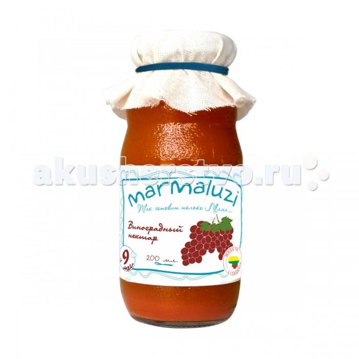 Соки и напитки Marmaluzi Нектар Виноградный с 9 мес. 200 мл сок gerber яблочно виноградный с шиповником с 6 мес 175 мл