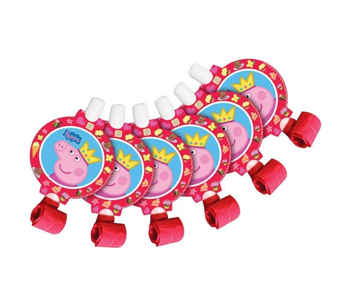 Товары для праздника Свинка Пеппа (Peppa Pig) Язычки Пеппа-принцесса 6 шт. наборы для праздника peppa pig набор посуды 25 предметов пеппа принцесса