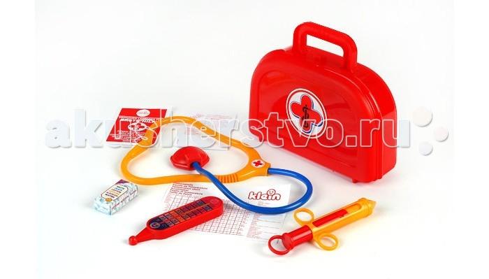 Ролевые игры Klein Набор доктора в красном чемоданчике с рецептами куплю еврозаборы в красном луче