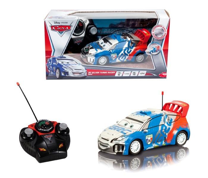 Dickie Машинка Рауль 2х канальный 1:24Машинка Рауль 2х канальный 1:24Dickie Машинка Рауль 2х канальный 1:24 из знаменитого мультфильма Тачки 2 - это француз Рауль, окрашенный по мотивам французского флага.   Любая гонка с Раулем превратится в захватывающее приключение. Прототипом машинки стал Citro&#235;n C4 WRC Hybrid 4, машинка меньше своего прообраза в 24 раза.   Автомобиль на радиоуправлении имеет функцию турбо-ускорения, а кроме того может двигаться во всех направлениях.   С такой машинкой можно играть на свежем воздухе, так как радиус действия пульта дистанционного управления достаточно велик.  Размер: 18 см<br>