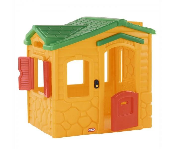 Little Tikes Игровой домик Волшебный звонокИгровой домик Волшебный звонокLittle Tikes Игровой домик Волшебный звонок.  Домик-коттедж привлекает внимание музыкальным звонком, способным воспроизводить 6 мелодий. Небольшую голландскую дверку легко сможет открыть и закрыть даже малыш. На стене внутри домика имитирован камин, а в углу расположился навесной столик с кухонной плитой и телефоном.  Основные характеристики: Стены домика выполнены из камня и обшиты сайдингом, крыша черепичная В доме 1 этаж Состоит из одной комнаты  В комнате четыре окна, одно из которых с закрывающимися ставнями  Небольшая дверь сделана в голландском стиле с прорезью для почты  На одной стене внутри дома имитация камина, в углу - имитация кухонного уголка со шкафами и микроволновой печью Необходимы 3 батарейки ААА для музыкального звонка, не входят в комплект. Два варианта расцветки домика:  желтые стены, зеленые крыша и звонок, красные ставни и дверь,  серо-бежевые стены, сине-зеленая крыша, красные ставни и дверь, зеленый звонок. Игровые элементы: Музыкальный звонок с 6 мелодиями, батарейки в комплект не входят! Прорезь-почтовый ящик в двери На навесном столике в углу разместились двухконфорочная плита с регулируемыми переключателями и телефон-трубка Внутри дома имитация кухни: микроволновая печь, шкафчики.<br>