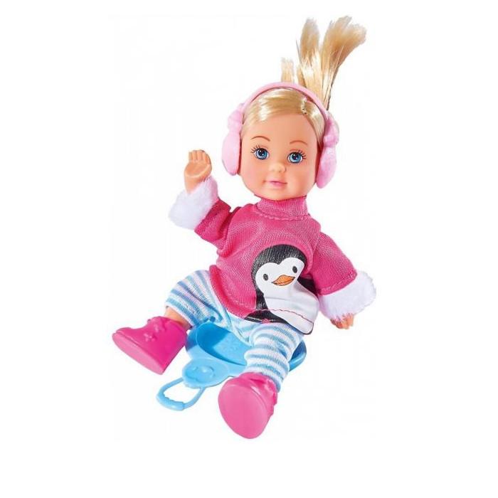 Куклы и одежда для кукол Simba Кукла Еви в зимнем костюме 12 см фигурки sweet home интерьерная кукла мальчик в зимнем костюме