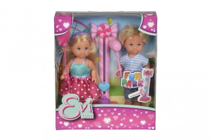 Куклы и одежда для кукол Simba Кукла Еви и Тимми на аттракционах 12 cм куклы и одежда для кукол simba кукла еви с малышом на прогулке